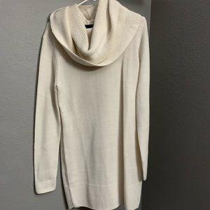 H&M beige knitted turtle neck midi dress
